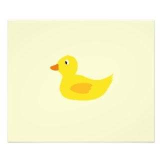 Cute yellow duck photographic print