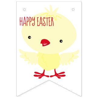 Cute Yellow Duckling | Easter Bunting Flags
