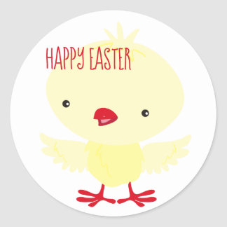 Cute Yellow Duckling | Easter Classic Round Sticker