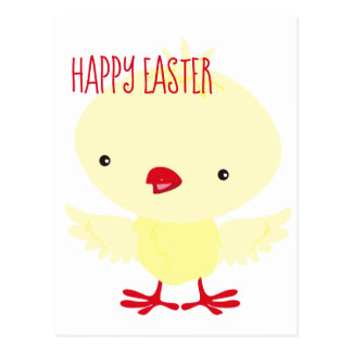 Cute Yellow Duckling | Easter Postcard