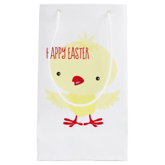 Cute Yellow Duckling | Easter Small Gift Bag