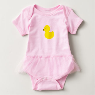 Cute Yellow Ducky Baby Bodysuit