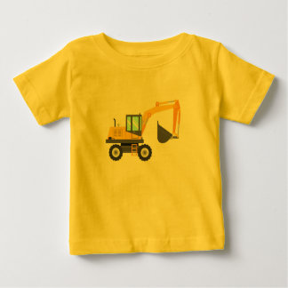 Cute Yellow Excavator for Kids Baby T-Shirt