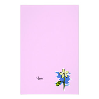 Cute Yellow Flower Stationery Paper