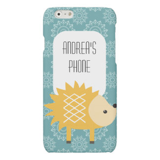 Cute Yellow Hedgehog Personalized Phone Case