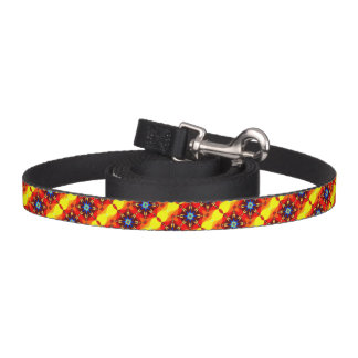 Cute yellow orange flower design pet lead