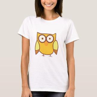 Cute Yellow Owl Bird T-Shirt