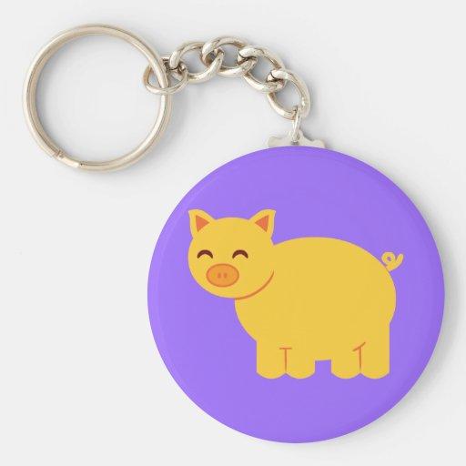 Cute Yellow Piggy Key Chains
