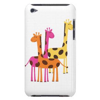 Cute Yellow, Pink and Orange Giraffes iPod Case-Mate Case