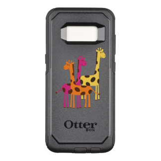 Cute Yellow, Pink and Orange Giraffes OtterBox Commuter Samsung Galaxy S8 Case