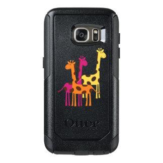 Cute Yellow, Pink and Orange Giraffes OtterBox Samsung Galaxy S7 Case