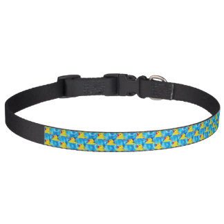 Cute Yellow Rubber Ducks Floating in Bubbles Pet Collar
