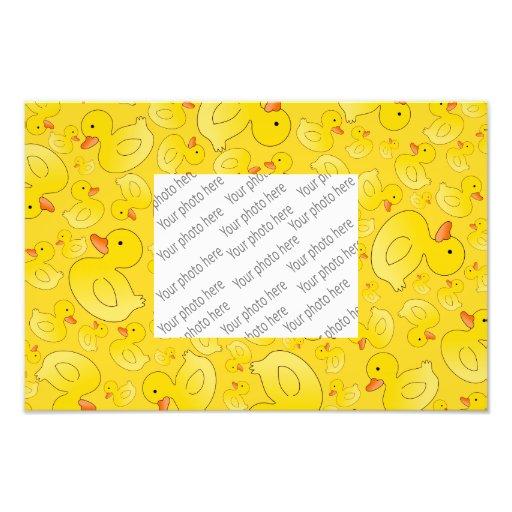 Cute yellow rubber ducks art photo