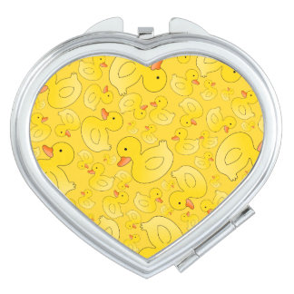 Cute yellow rubber ducks vanity mirror