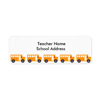 Cute Yellow School Bus for Teacher School Return Address Label