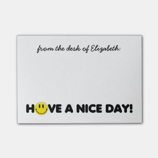 Cute Yellow Smiley Personalized Post-it Notes