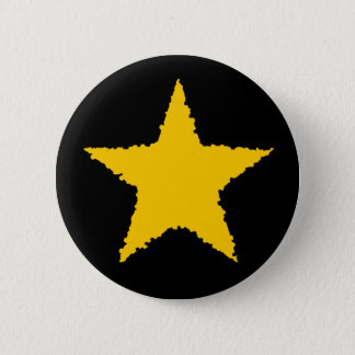 Cute yellow star 2 inch round button
