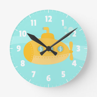 Cute Yellow Submarine, For Kids Bedroom Clock