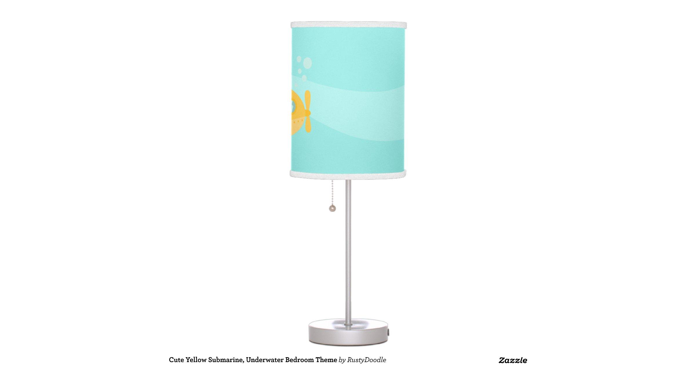 Cute Yellow Submarine Underwater Bedroom Theme Table