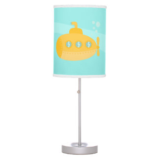 Cute Yellow Submarine, Underwater Bedroom Theme Table Lamps