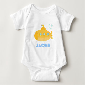 Cute Yellow Submarine, Underwater, For Babies Baby Bodysuit