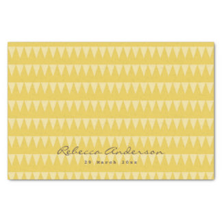 CUTE YELLOW WHITE WATERCOLOUR STRAWBERRIES COL. TISSUE PAPER