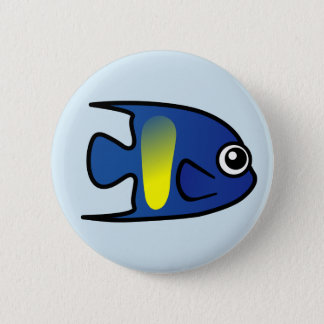 Cute Yellowbar Angelfish 2 Inch Round Button