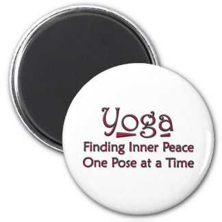 Cute Yoga Saying 2 Inch Round Magnet