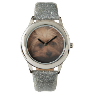 Cute Yorkie Glitter Watch