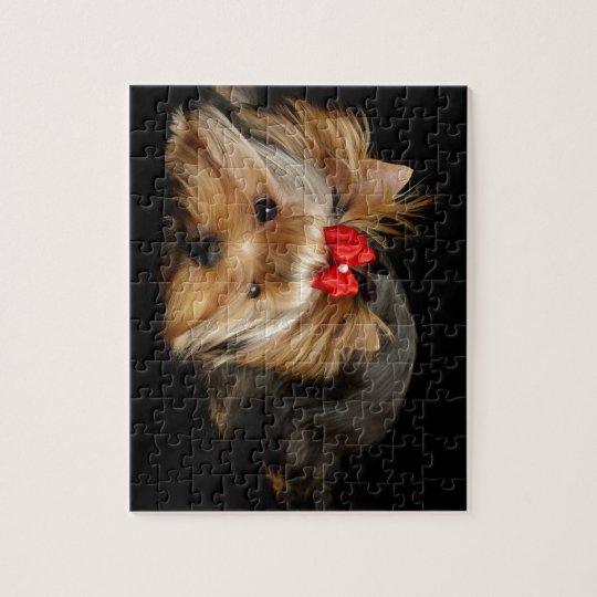 Cute yorkie jigsaw puzzle