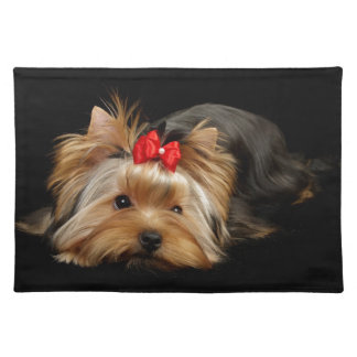 Cute yorkie placemats