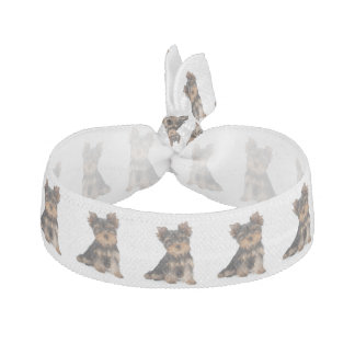 Cute yorkie puppy hair tie
