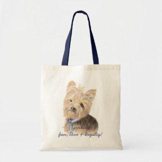Cute Yorkie, Yorkshire Terrier, Dog, Pet Tote Bag