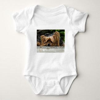 Cute Yorkshire Puppy Baby Bodysuit