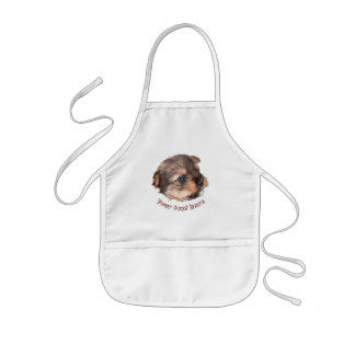 Cute Yorkshire Puppy Face Kids Apron