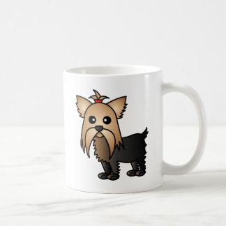 Cute Yorkshire Terrier Cartoon Coffee Mug