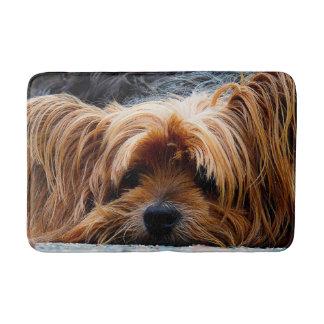 Cute Yorkshire Terrier Dog Bath Mat