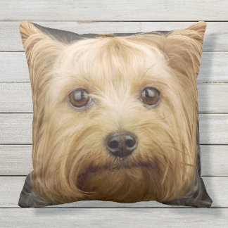 Cute Yorkshire Terrier Outdoor Pillow
