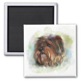 Cute Yorkshire Terrier Painting Magnet