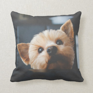 Cute Yorkshire Terrier Puppy Dog  Pillow