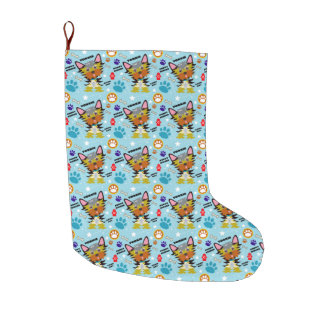 Cute Yorkshire Terrier Puppy Large Christmas Stocking