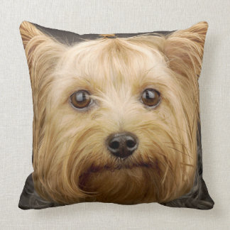 Cute Yorkshire Terrier Throw Pillow