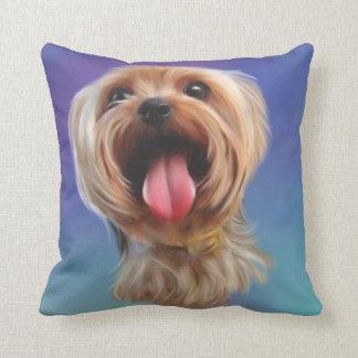 Cute yorkshire terrier,yorkie,digital art throw pillow