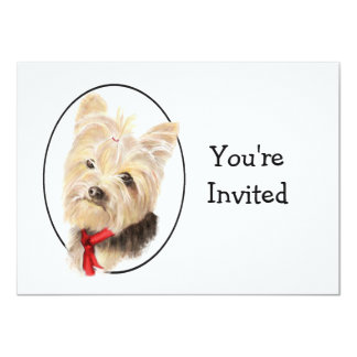 Cute Yorkshire Terrier Yorkie  Wedding Anniversary Card