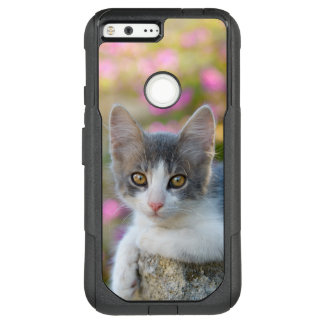 Cute Young Bicolor Cat Kitten Fluffy Pet Photo _ OtterBox Commuter Google Pixel XL Case