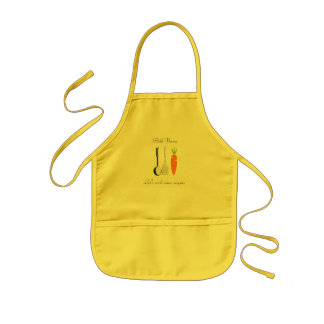 Cute Young Cook Chef Custom Text Kids Apron