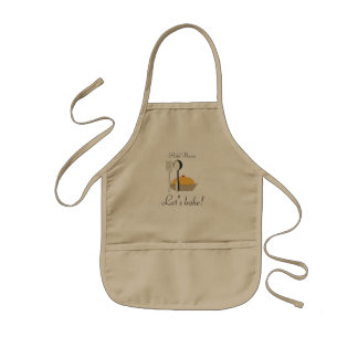 Cute Young Cook Chef Custom Text Kids Baking Apron