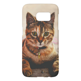 Cute Young Tabby Cat Kitten Kitty Pet Samsung Galaxy S7 Case