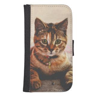 Cute Young Tabby Cat Kitten Kitty Pet Samsung S4 Wallet Case