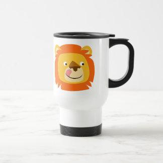 Cute Yummy Cartoon Lion Commuter Mug